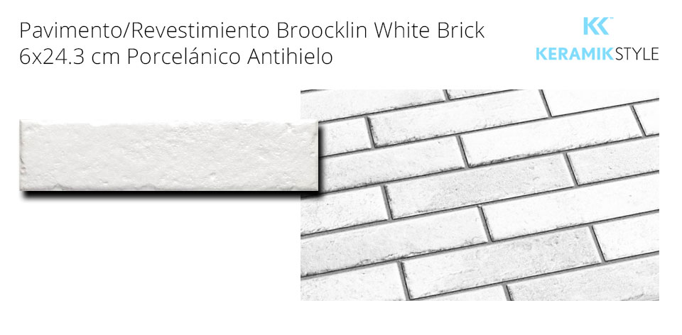 Pavimento/Revestimiento BROOKLIN WHITE BRICK