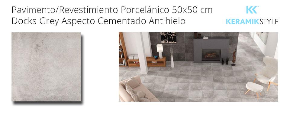 Pavimento/Revestimiento DOCKS GREY 50X50