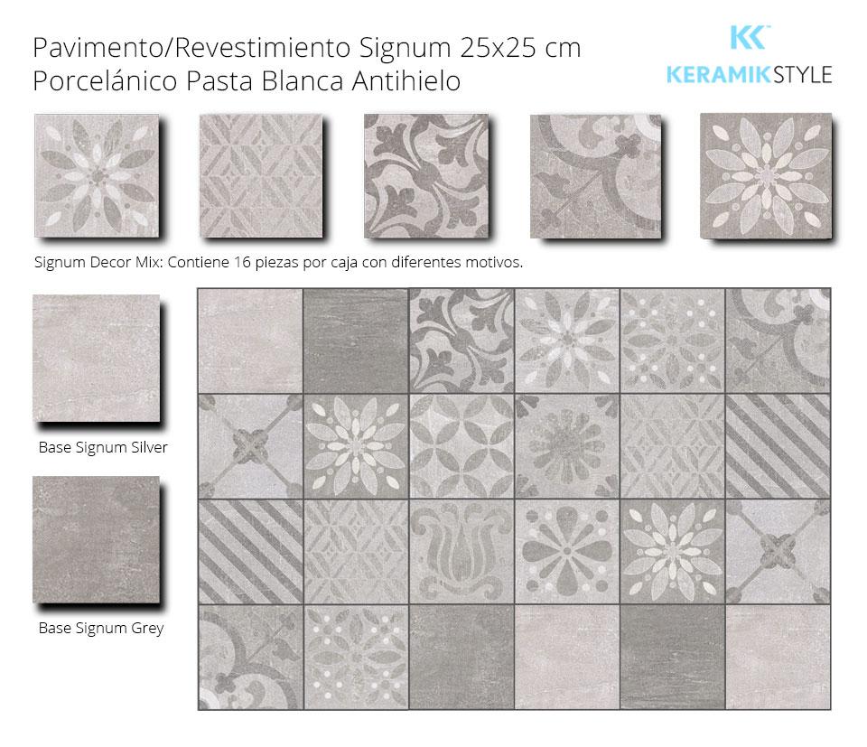 Pavimento/Revestimiento SIGNUM 25X25