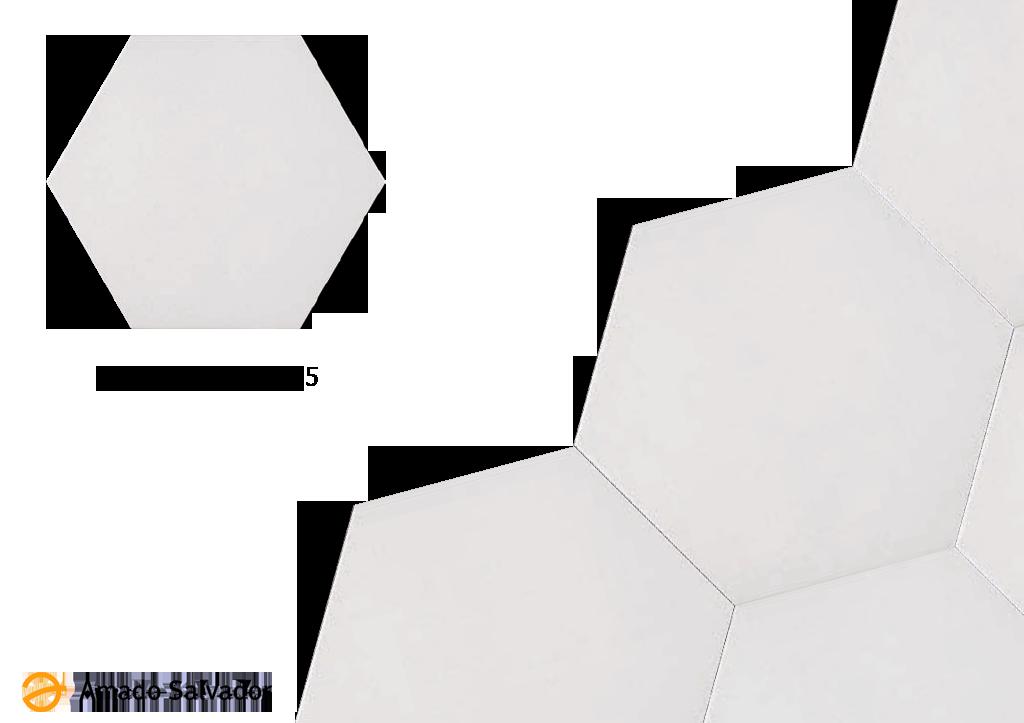 Pavimento o revestimiento porcelánico hexagonal Abadía