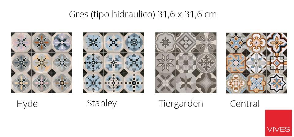 Pavimento o revestimiento hidraúlico Gres de serie World Parks de Vives cerámica