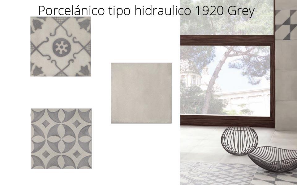 Pavimento o revestimiento hidraúlico porcelánico 1920 Grey Mix