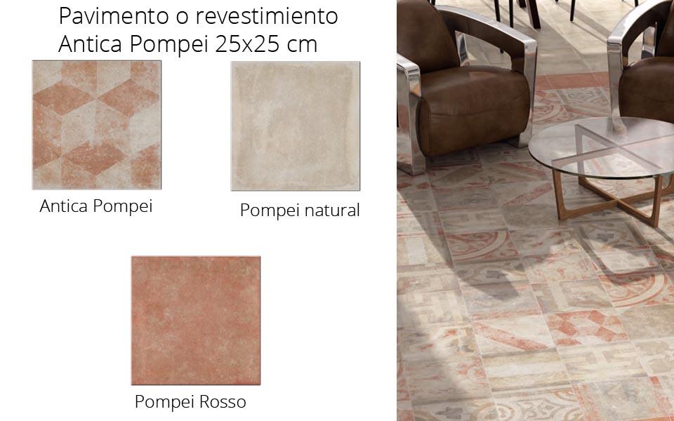 Pavimento o revestimiento hidraúlico porcelánico Pompei Antica