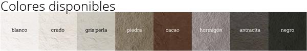 Colores disponibles platos de ducha de resina textura pizarra