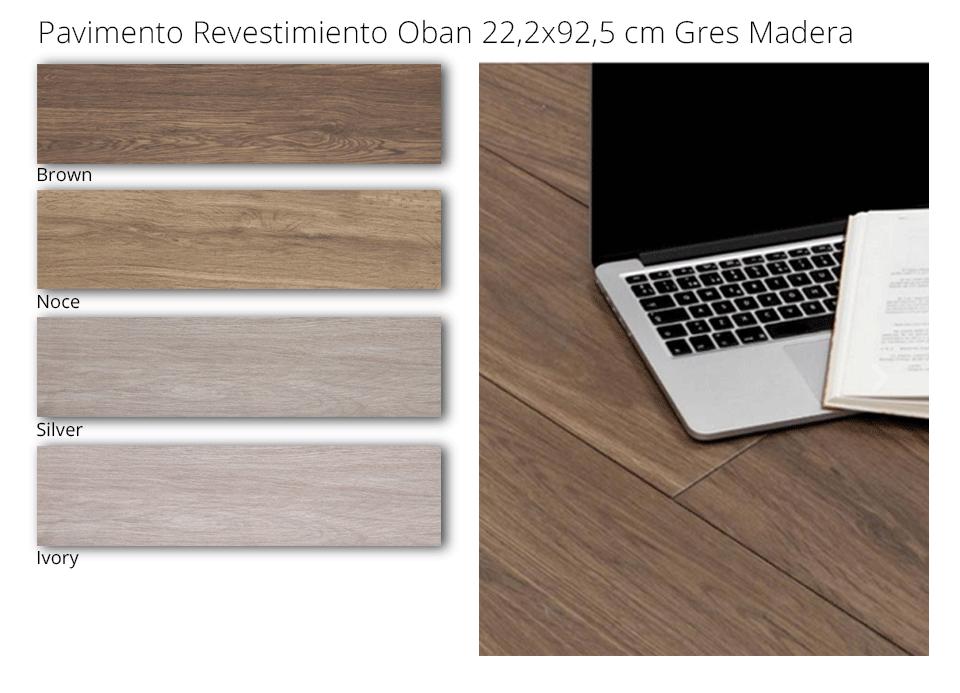 Pavimento o revestimiento gres madera oban de 22,2x92,5cm