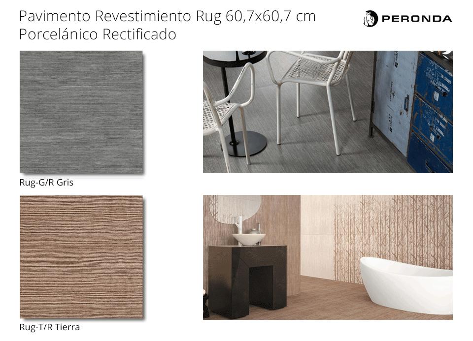 pavimento revestimiento rug de peronda lapato porcelánico rectificado de 60.7x60.7 cm