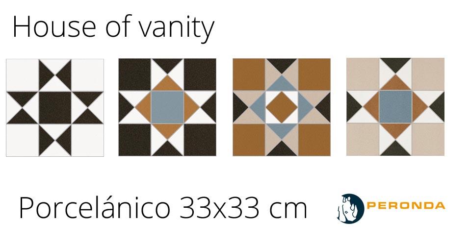 Pavimento o revestimiento hidraúlico porcelánico House of Vanity de Peronda