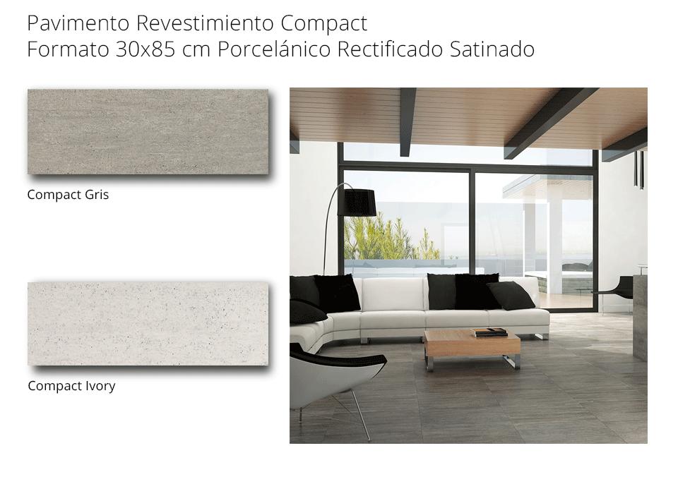 pavimento revestimiento compact porcelanico recficado de 30x85 cmcm