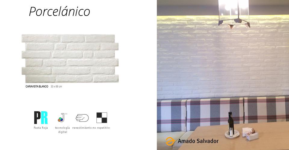 Caravista porcel nico blanco 33x66 cm for Amado salvador catalogo