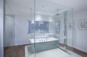 Proyecto baño acristalado diseñador Pablo Vidal