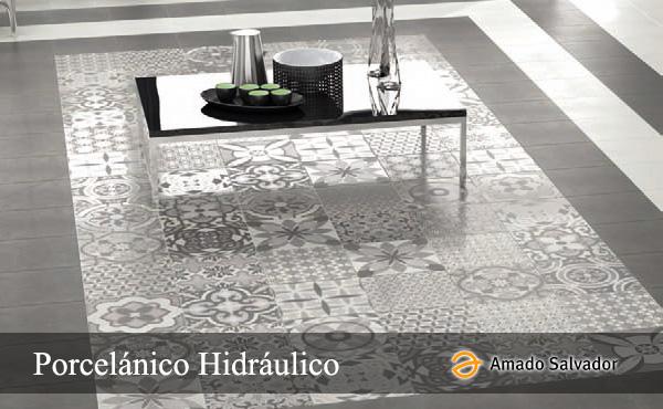 Pavimento hidráulico porcelánico Amado Salvador
