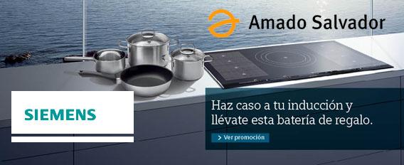 Promoción placas de inducción Siemens en Amado Salvador