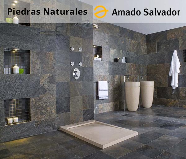 Piedra natural pizarra para interior exterior baldosa y revestimiento ambiente baño
