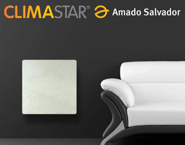 radiador electrico de diseño smart stone de caliza blanco  climastar