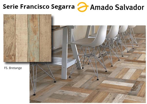 Pavimento revestimiento acabado bretange de madera envejecida serie Francisco Segarra