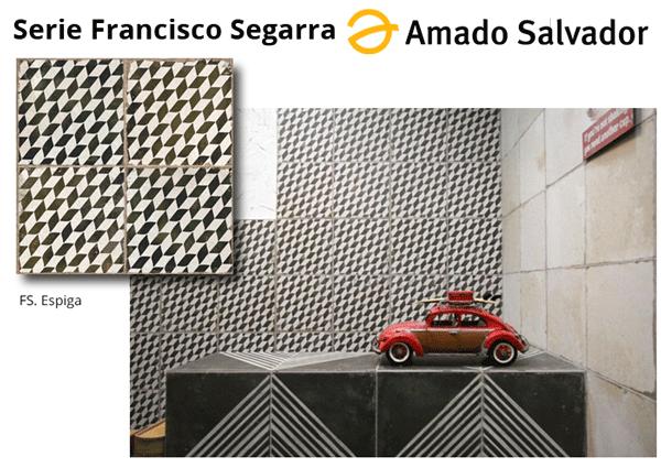 Pavimento revestimiento acabado espiga de madera envejecida serie Francisco Segarra