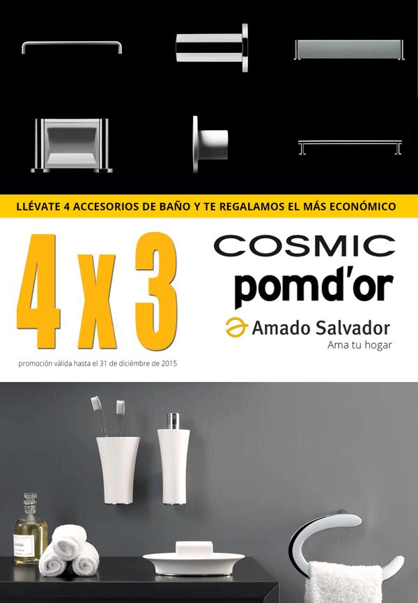 promoción 2015 de accesorios de baño 4 x 3 de Cosmic de Amado Salvador
