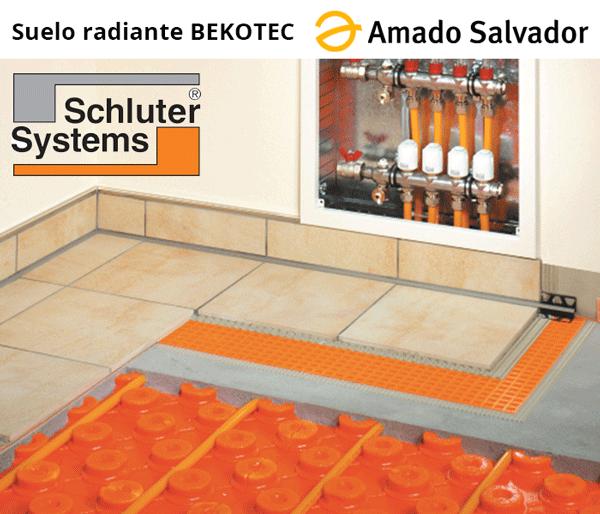 sistema de calefacción por suelo radiante de Schlüter Bekotec THERM