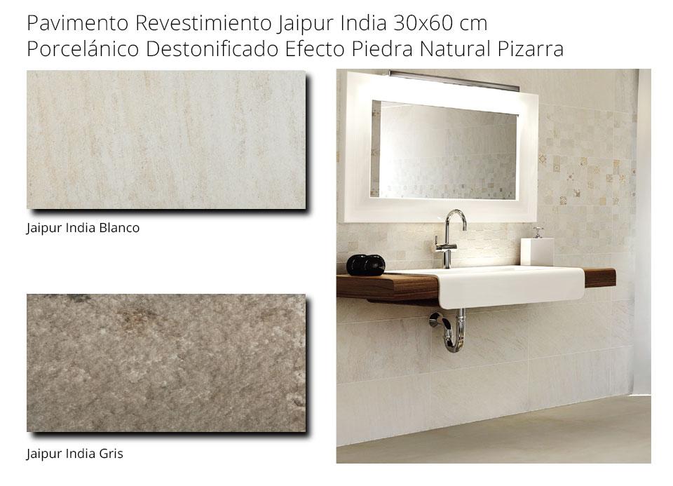 Pavimento revestimiento porcelánico Jaipur / India 30x60 imitación arenisca