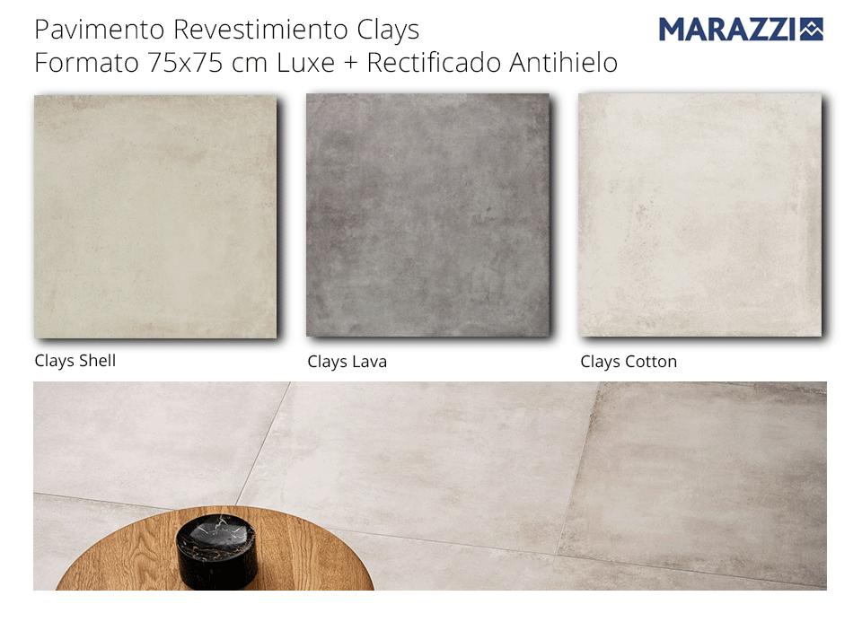 Pavimento revestimiento 75x75 cm Clays de Marazzi