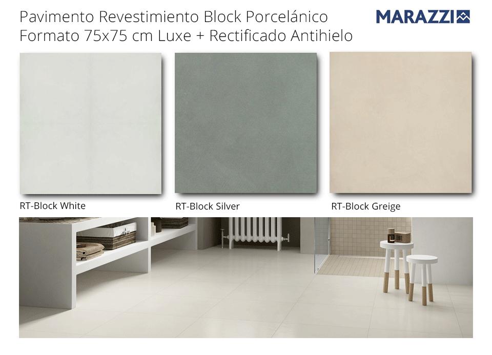 Pavimento revestimiento 75x75 cm Block de Marazzi