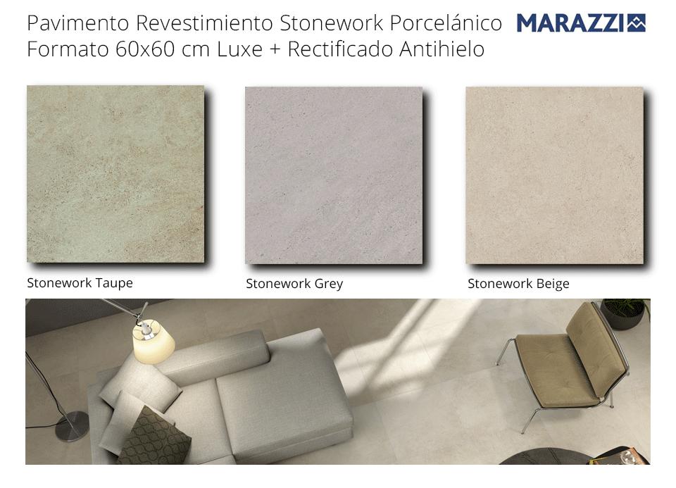 Pavimento revestimiento porcelánico rectificado Stonework Marazzi