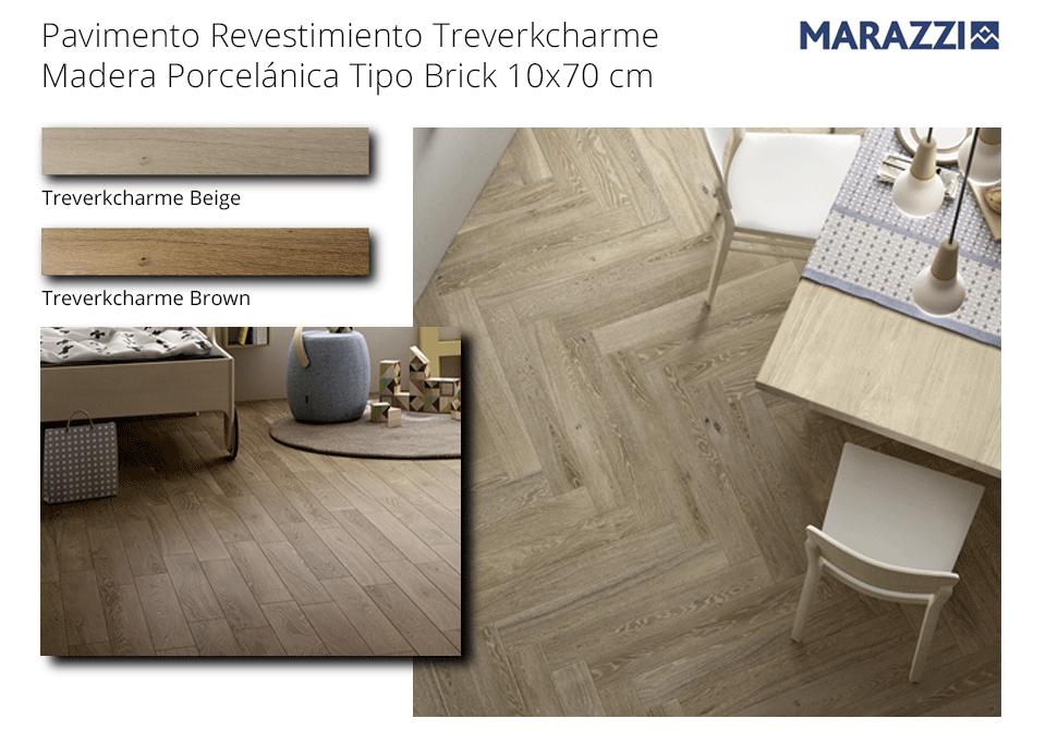 Pavimento revestimiento madera porcelánica Treverkcharme 10x70 cm de Marazzi