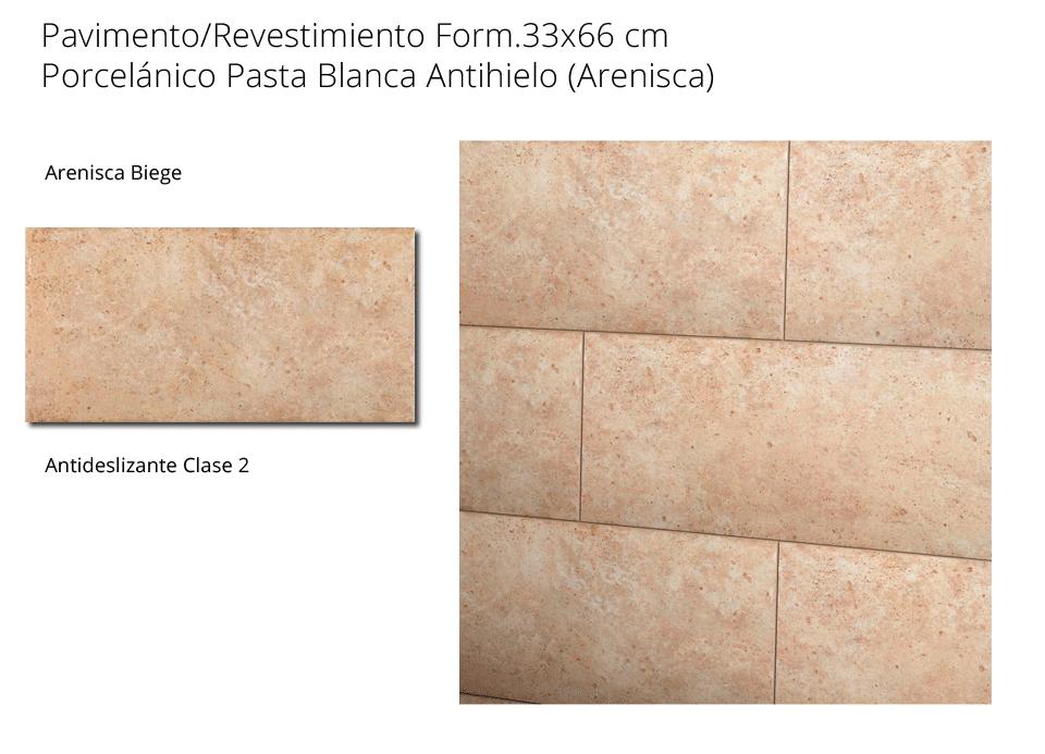 Pavimento antideslizante Arenisca Beige 33x66 cm