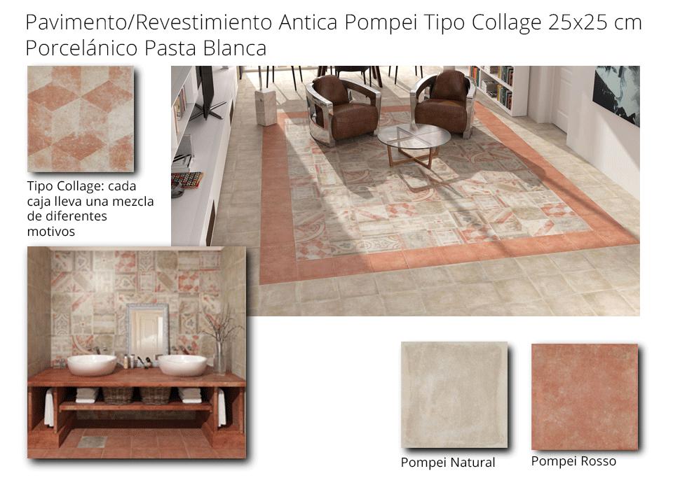 Pavimento porcelánico Pompei hidraulico 25x25 cm