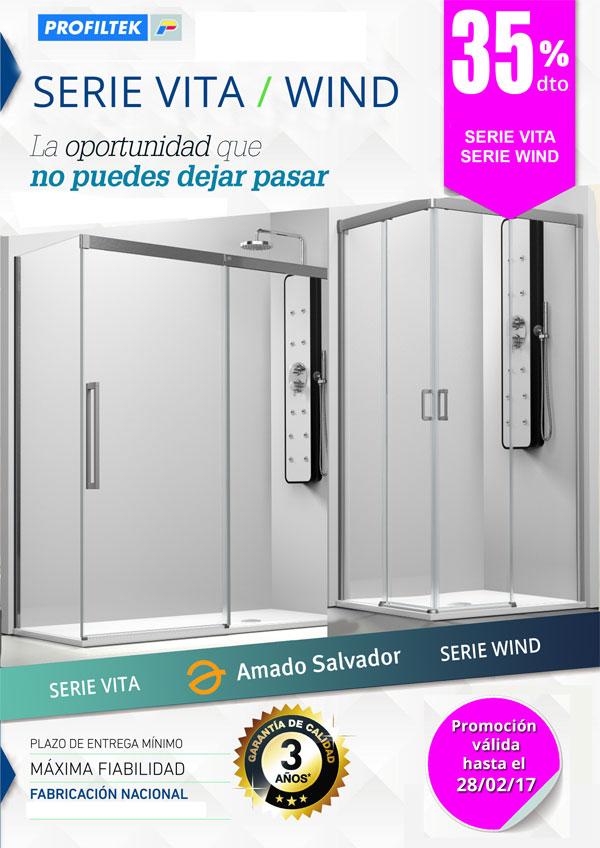 promocion profiltek serie vita y wind con un 35% de descuento.