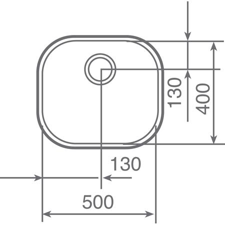 Fregadero bajo encimera BE-50.40 Teka