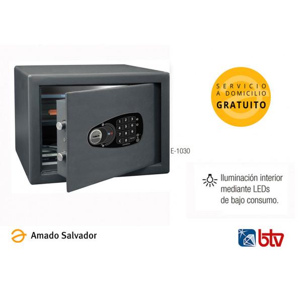 Caja fuerte sobreponer modelo E-1030 serie DECORA con cerradura electrónica BTV