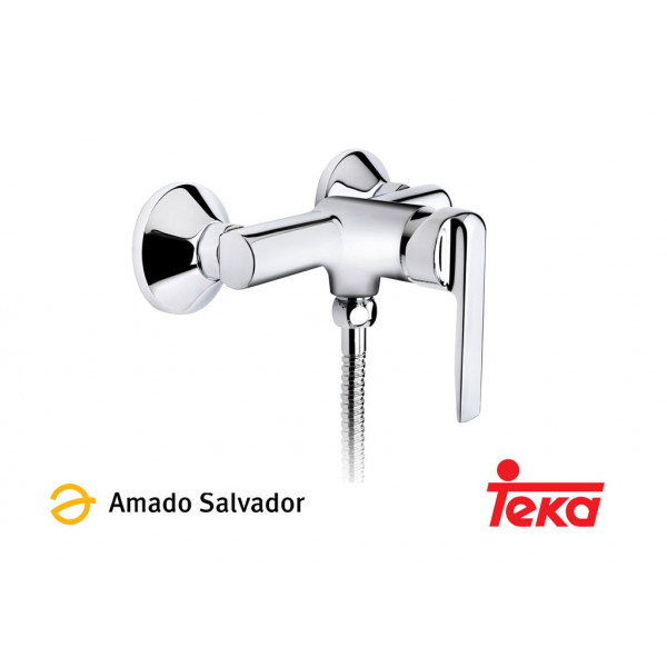 INCA mezclador monomando ducha con equipo de ducha cromo Teka