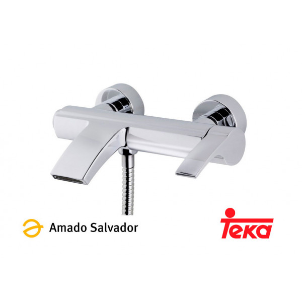 VITA mezclador monomando baño ducha tipo cascada cromo Teka