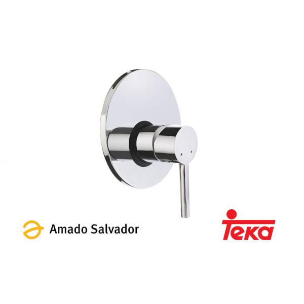 ALAIOR mezclador monomando empotrado ducha cromo Teka