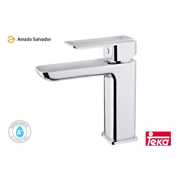 Formentera monomando lavabo sistema anti salpicaduras cromo Teka