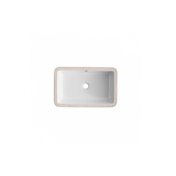 Lavabo bajo encimera blanco rectangular AGRES