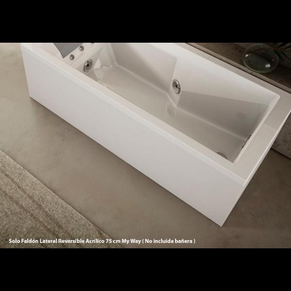 Faldón Lateral Reversible Acrílico blanco de 75 cm para Jacuzzi My Way de 170x75 cm