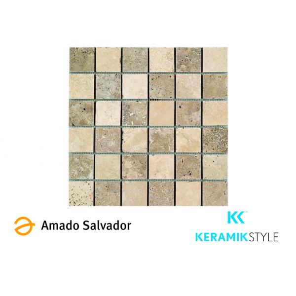 Mosaico enmallado SMIRNA 30,5X30,5cm piedra