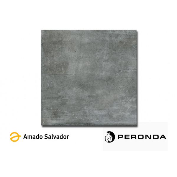 Pavimento/Revestimiento Shark-N/60,7/L/R 60,7x60,7 cm negro porcelánico luxe+rectificado