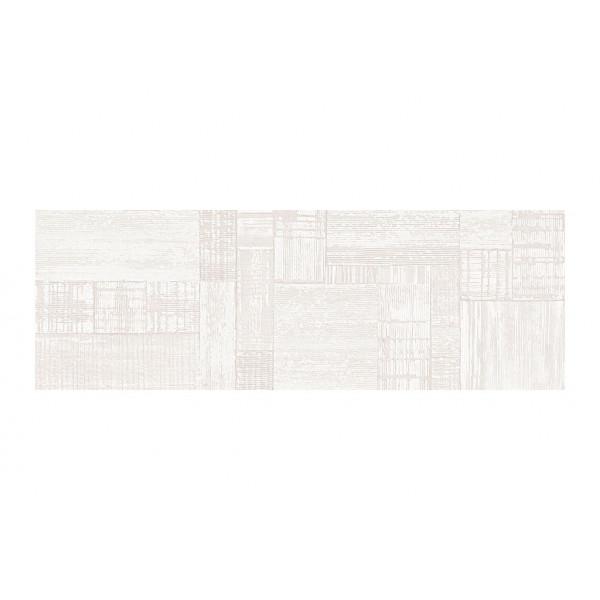 Revestimiento SALINES decor white satinado 33,3x100cm (slim) pasta blanca Peronda