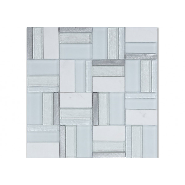 Mosaico enmallado TIME WHITE 30X30cm