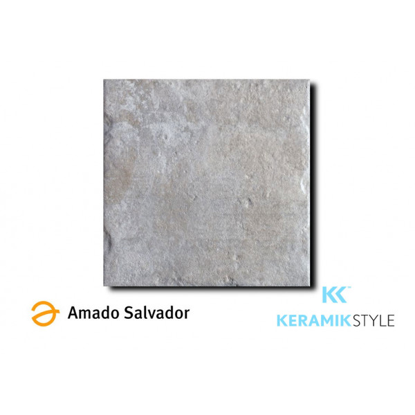 Pavimento ADOBE SILVER color PLATA Porcelánico 50x50cm