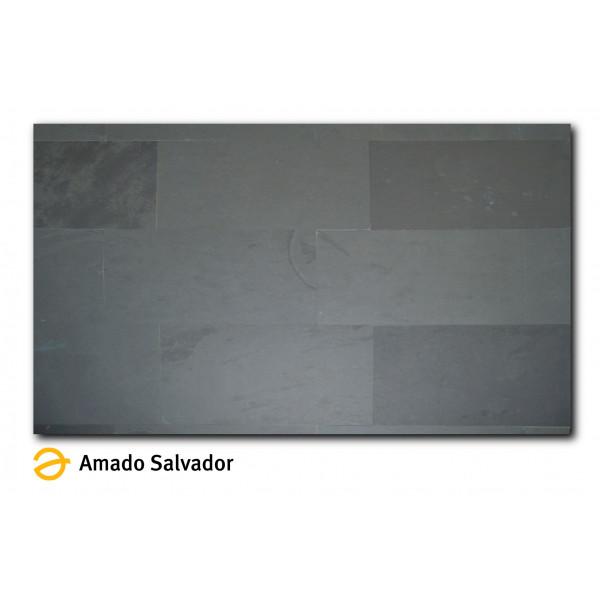 Piedra Natural Pizarra Brasileña calibrada 30x60cm Negro grafito