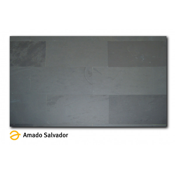 Pizarra natural Negra Grafito 30x60x1 Calibrada Montauk Black
