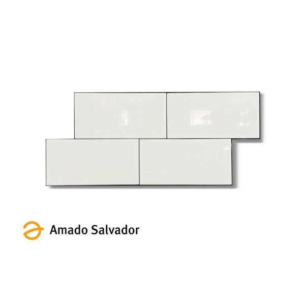Revestimiento blanco brillo 10x20 cm liso monocolor