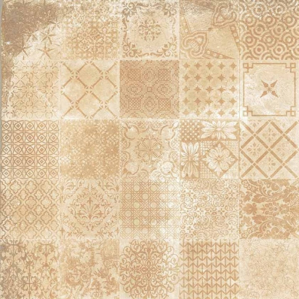 Pavimento ALHAMAR Decorative Paja 33x33cm gres extrusionado pasta blanca