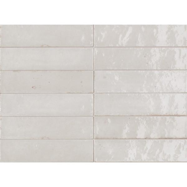 Revestimiento LUME WHITE 6X24 porcelanico brillo Marazzi Crogiolo