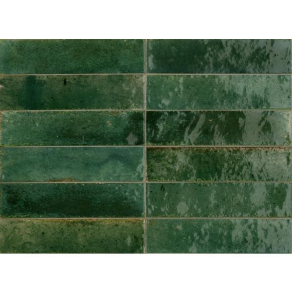 Revestimiento LUME GREEN 6X24 porcelanico brillo Marazzi Crogiolo