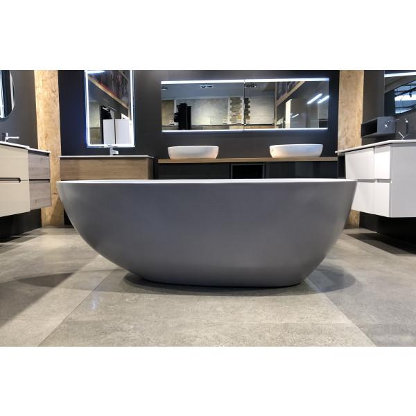 Bañera gris hormigón exenta acrílica decorativa